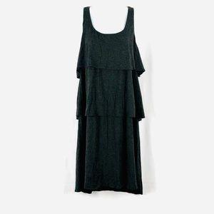 Suzi Chin tiered knit sleeveless dress L